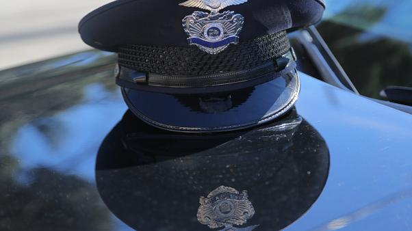 An LAPD officer's cap