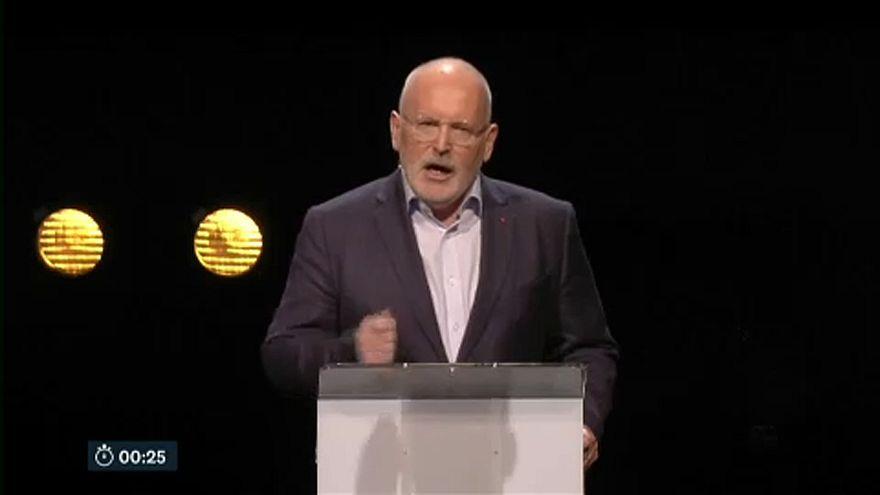 Los candidatos a presidir la CE dan su visión de Europa