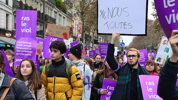 November 2018 demonstration against sexual violence in France.