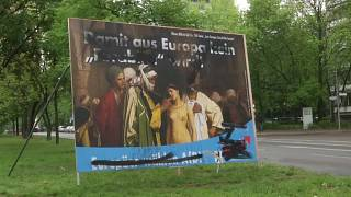 الملصق الذي نشره الحزب اليميني المتطرف