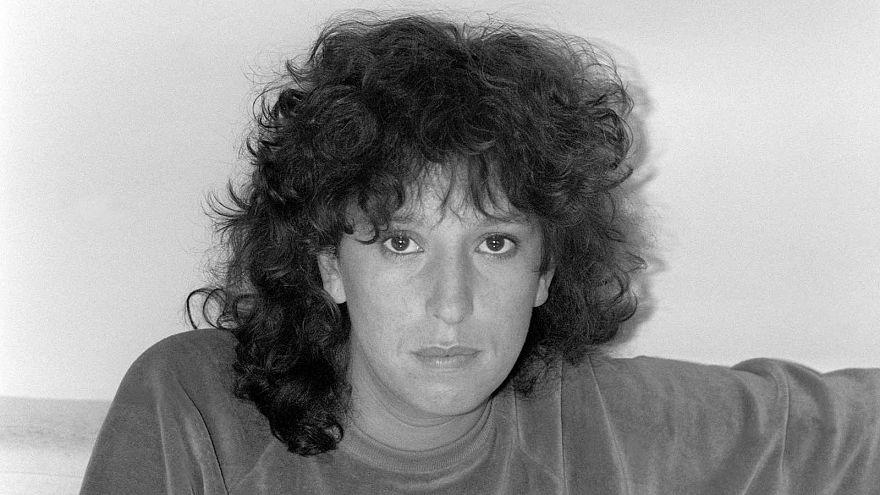 Portrait de la comédienne Anémone pris le 03 février 1982 à Paris.