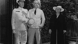 US President Franklin D. Roosevelt and Dutch queen Wilhelmina in 1942