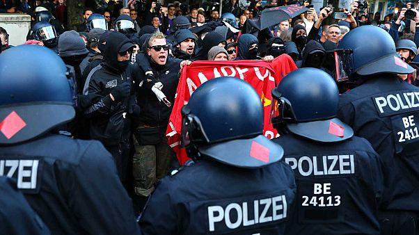 Manifestants à Berlin, le 1er mai 2019
