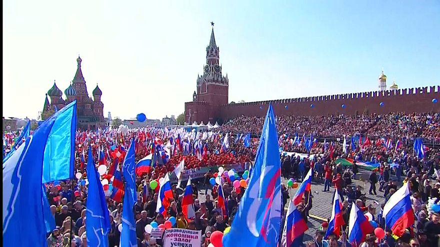 Fiesta en Rusia y huelgas en Grecia en el Día Internacional del Trabajo