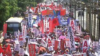 ویدئو؛ تظاهرات روز جهانی کارگر در فیلیپین