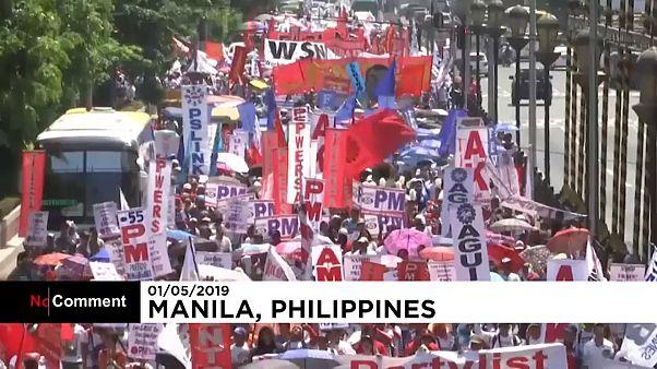 Filipinos comemoram Dia do Trabalhador