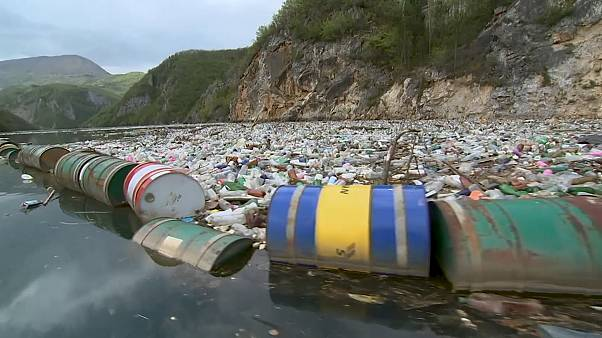 Bosnian rivers, once crystal-clear, now full of rubbish due to neglect