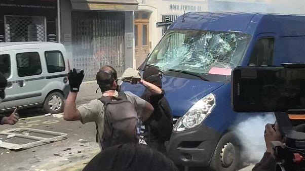Más de 200 detenidos en París en las marchas del Primero de Mayo
