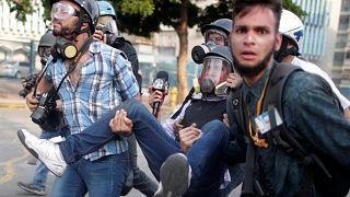 جانب من المظاهرات ضد حكم مادورو