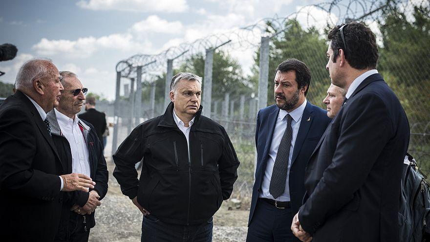 Risultati immagini per Orban, Salvini e Heinz-Christian Strache immagini