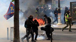 Paris amanece con la resaca del Día del Trabajo