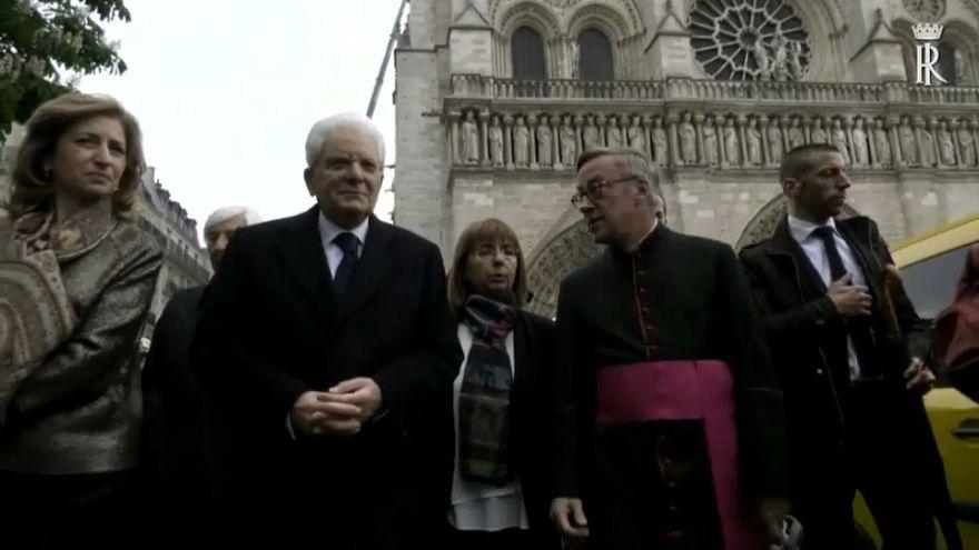 زيارة الرئيس الإيطالي لكاتدرائية نوتردام تؤجل الخلافات مع فرنسا