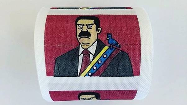 Dirty protest? Toilet roll with Maduro's face for sale online