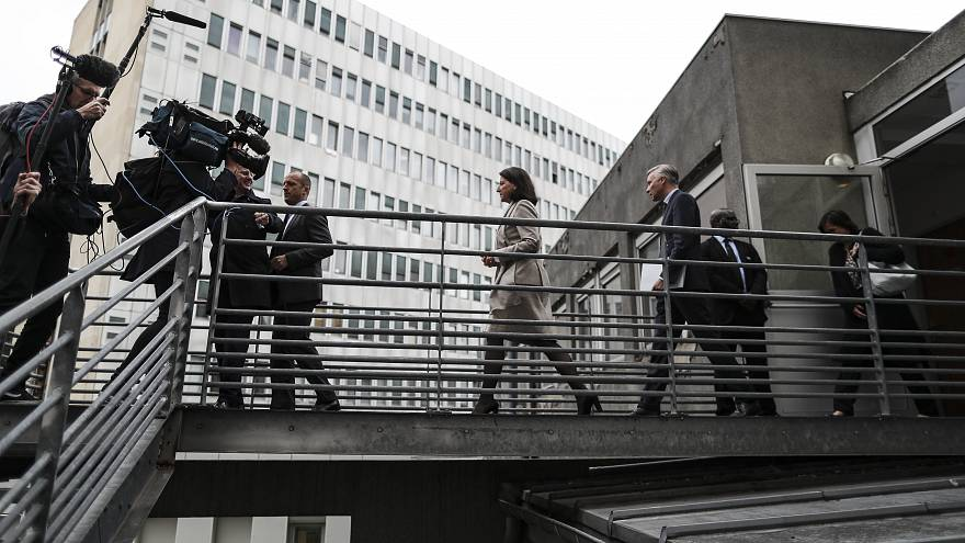 Minister Agnes Buzyn leaves the Pitie-Salpetriere hospital, May 2, 2019