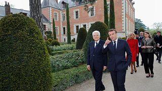 Macron and Mattarella in Amboise France, May 2, 2019