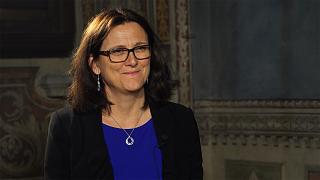 EU, US should find 'negotiated solution' to trade tensions, says Cecilia Malmstrom