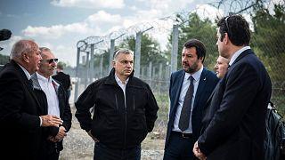 Meglátogatta a magyar határkerítést Matteo Salvini