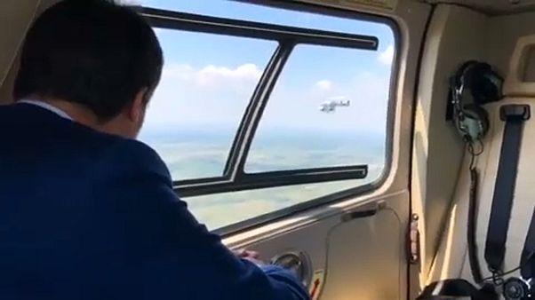Salvini Röszkére helikopterezett