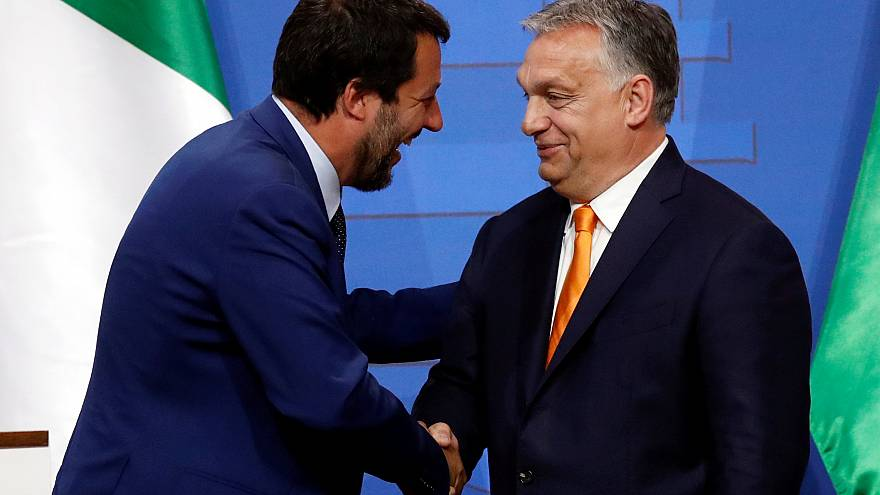 Italian Deputy PM Salvini and Hungarian PM Orban in Budapest,  May 2, 2019