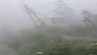 Les vents violents du cyclone Fani