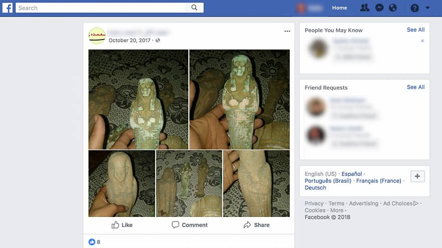 Revealed: Thousands of looted artefacts from Middle East sold in Europe via social media