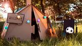 100% recyclable cardboard tents are pitching up at festivals