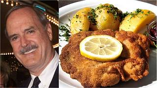 Fawlty Towers star John Cleese and popular Austrian dish wiener schnitzel