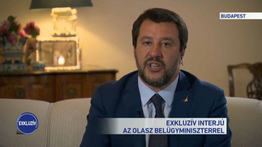 Matteo Salvini speaks to M1 television
