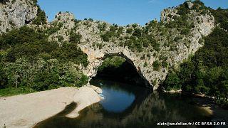 Le pont d'Arc sur la rivière Ardèche