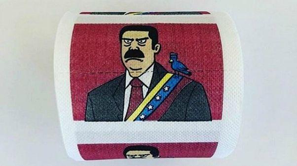 فروش دستمال توالت منقش به تصویر نیکلاس مادورو بر روی اینترنت