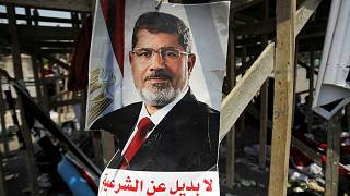 صورة للرئيس المصري السابق عضو جماعة الإخوان محمد مرسي