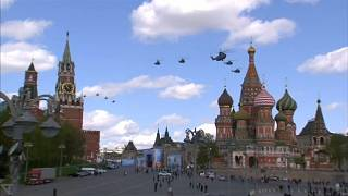 جانب من استعراض للطائرات الحربية في سماء موسكو