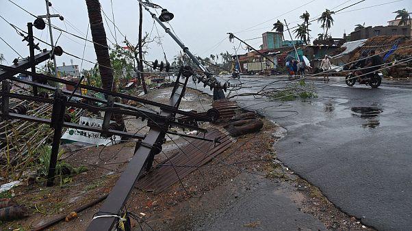 صورة من مدينة بوري بعد مرور الإعصار عليها