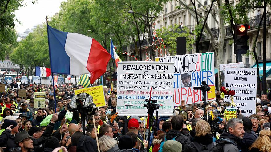Demonstration in Paris, France, May 4, 2019