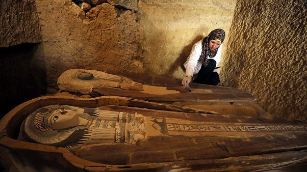 صورة من المقبرة الأثرية التي تم اكتشافها