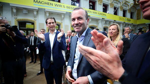 Manfred Weber com o chanceler austríaco Sebastian Kurz