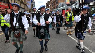 Independence march in Scotland
