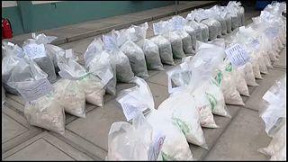 В Перу жгут наркотики