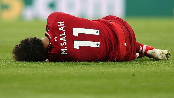 محمد صلاح بعد إصابته