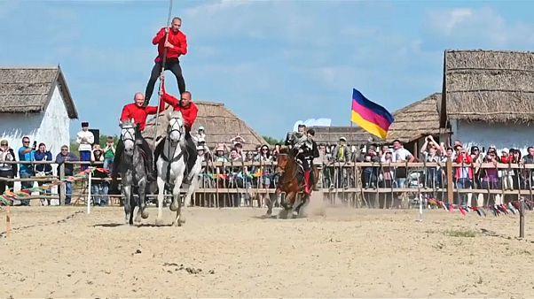 جانب من احتفال للقوقاز في روسيا