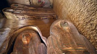 Sarcófagos com mais de 4 mil anos encontrados no Egito