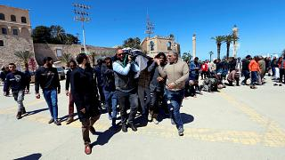 Le immagini di un funerale a Tripoli