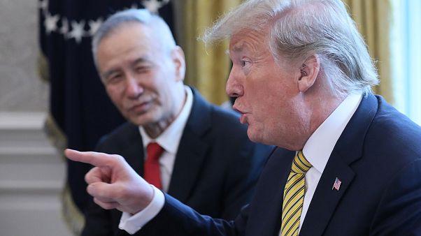 President Trump with China's Vice Premier Liu He, Washington, 4 April 2019