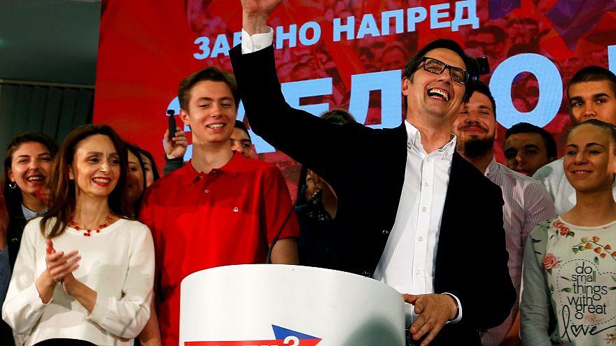 Clara victoria del candidato proocidental en Macedonia del Norte
