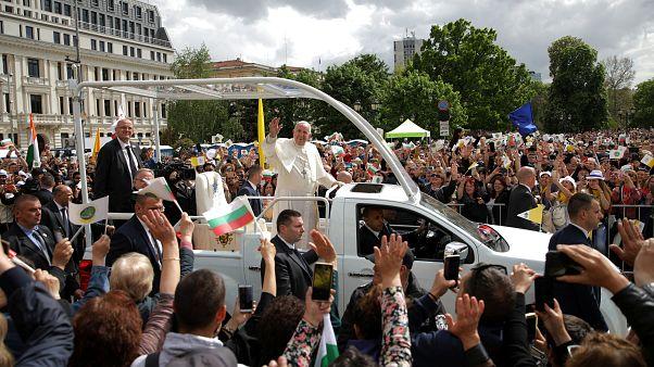 Ferenc pápa Bulgáriában