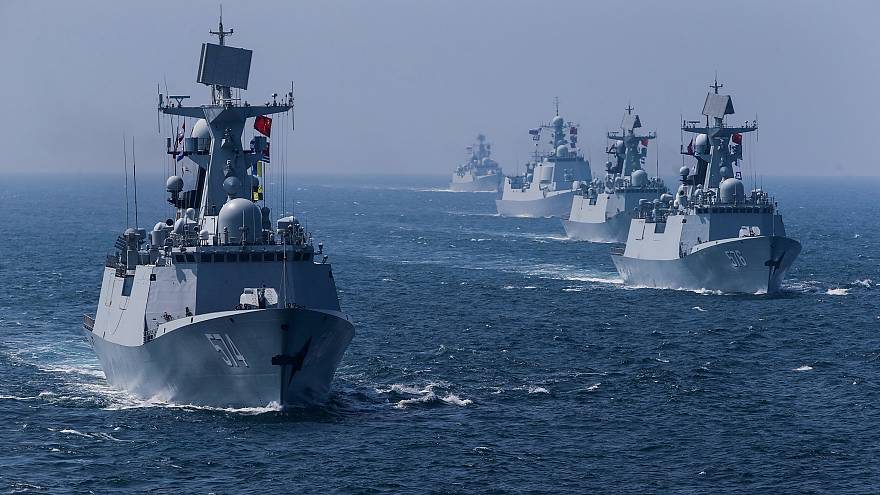 Китайские корабли накануне учений