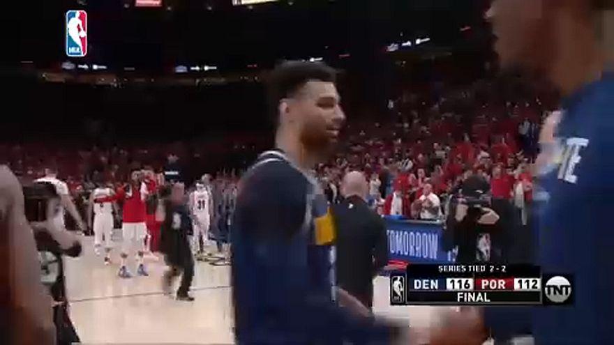 NBA Playoff: Denver espugna Portland ed impatta la serie