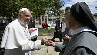 البابا خلال زيارته لبلغاريا