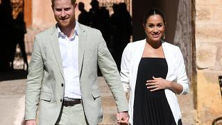 The royal couple pictured on a visit to Morocco in February.