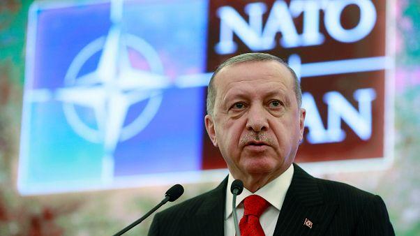 إردوغان خلال قمة لمنظمة حلف شمال الأطلسي